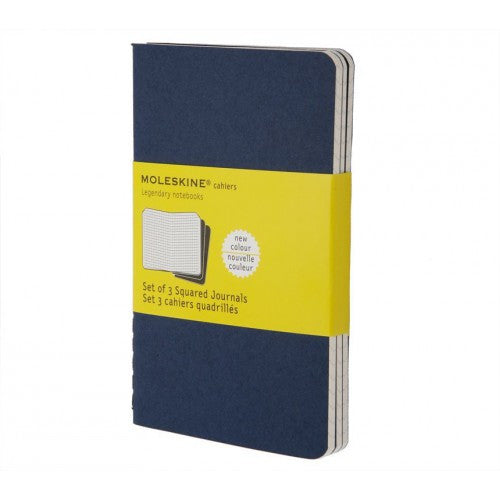 Moleskine Cahier Large Squared Notebook-Notebook-Moleskine-Cahier Navy Large Squared-Applebee