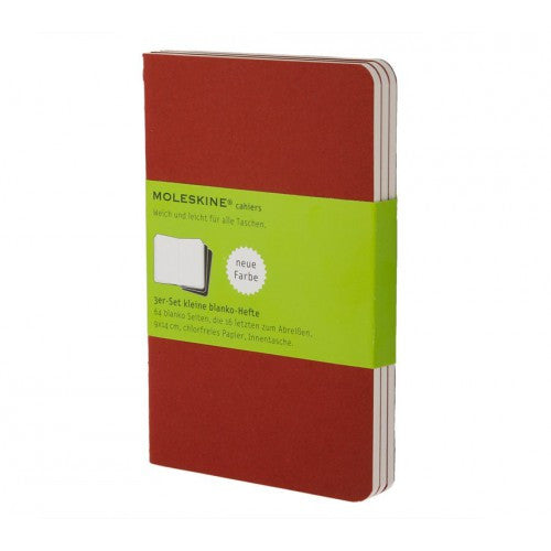 Moleskine Cahier Large Plain Notebook-Notebook-Moleskine-Cahier Red Large Plain-Applebee