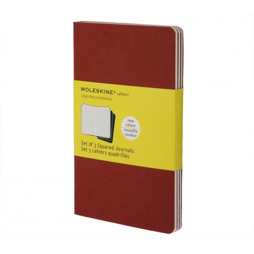Moleskine Cahier Large Squared Notebook-Notebook-Moleskine-Cahier Red Large Squared-Applebee