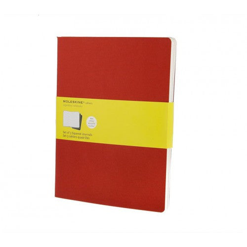 Moleskine Cahier XLarge Squared Notebook-Notebook-Moleskine-Cahier Red XLarge Squared-Applebee