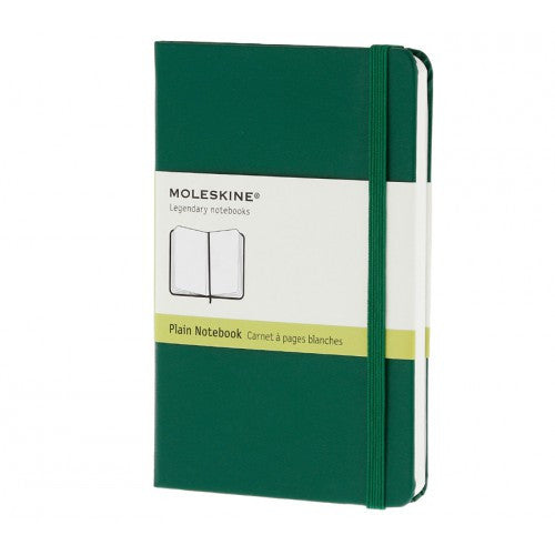 Moleskine Classic Pocket Plain Notebook-Notebook-Moleskine-Classic Green Pocket Plain-Applebee