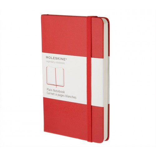Moleskine Classic Pocket Plain Notebook-Notebook-Moleskine-Classic Red Pocket Plain-Applebee