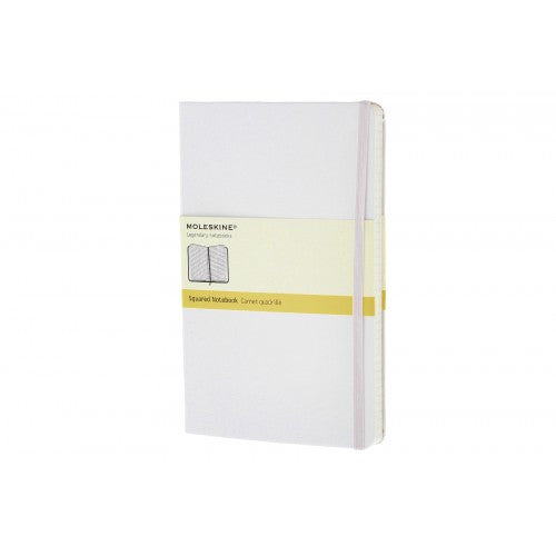 Moleskine Classic Large Squared Notebook-Notebook-Moleskine-Classic White Large Squared-Applebee