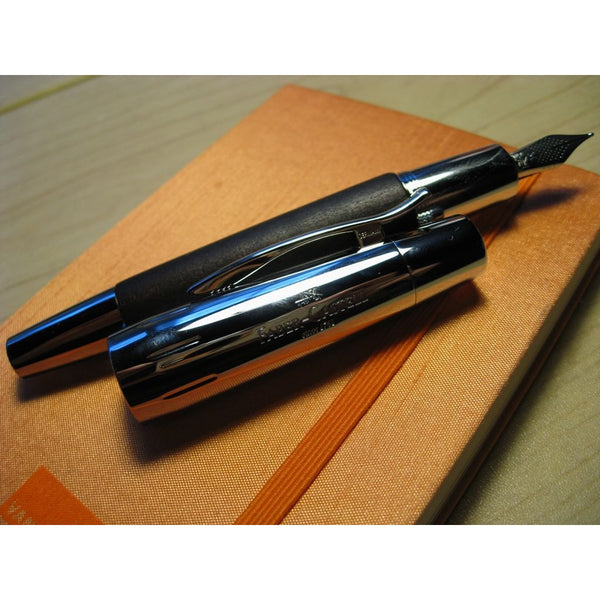 Faber-Castell E-Motion Brown Pear Wood Fountain Pen-Fountain Pen-Faber-Castell-M-Applebee
