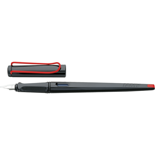 LAMY joy Calligraphy Fountain Pen-Fountain Pen-Lamy-Gloss Black Cap and Red Clip-1.1mm-Applebee