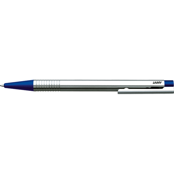 LAMY Logo Ballpoint Pen-Ballpoint pen-Lamy-Stainless Steel Blue Finish-Applebee