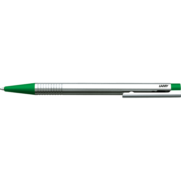 LAMY Logo Ballpoint Pen-Ballpoint pen-Lamy-Stainless Steel Green Finish-Applebee