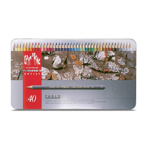 Caran d'Ache Pablo Coloured Pencils Tin of 40