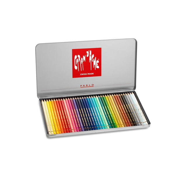 Caran d'Ache Pablo  Tin of 40 Coloured Pencils