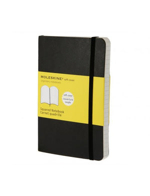 Moleskine Classic Soft Black Large Squared Notebook