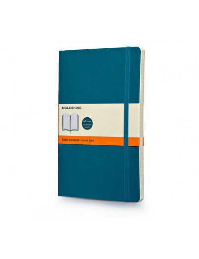 Moleskine Soft Classic Large Ruled Notebook-Notebook-Moleskine-Underwater Blue-Applebee