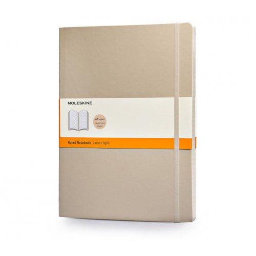 Moleskine Soft Classic Large Ruled Notebook-Notebook-Moleskine-Khaki Beige-Applebee