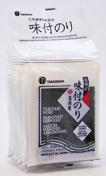Teriyaki Nori 5P  (Product of Japan, Nori from Ariake Sea, No MSG Added)