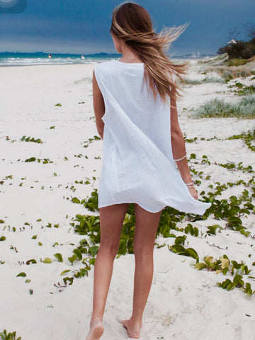 Breezy Sleeveless Beach Shirt
