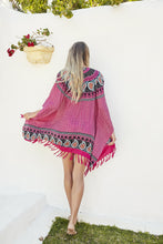Load image into Gallery viewer, Gypsy Girl Mandala Beach Kimono