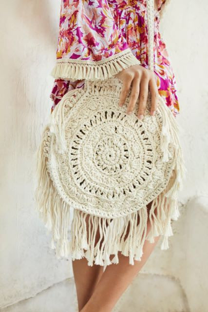 Gypsy Round Arrow Crochet Bag
