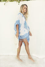 Load image into Gallery viewer, Gypsy Blue Mandala Beach Kimono