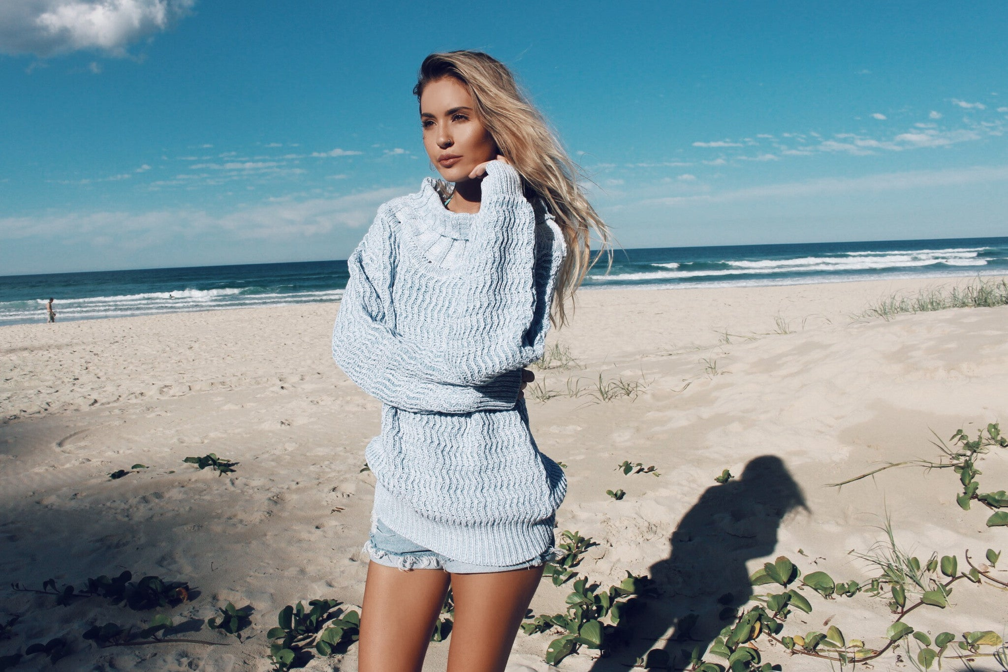 Gypsy Baby Blue Knit Jumper