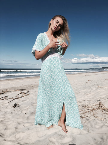 Aqua Mosaic Mermaid Maxi