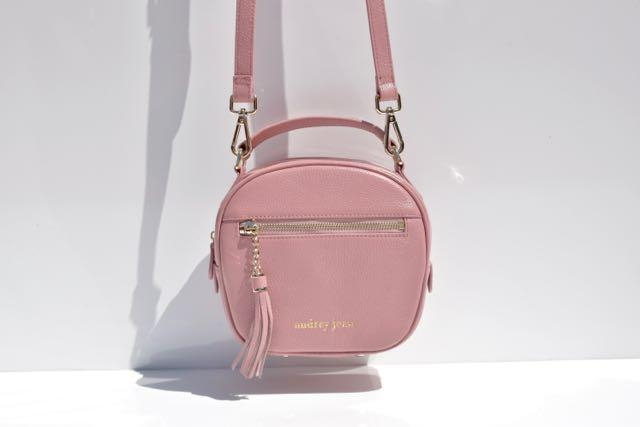 Starry Pink Luxe Litte Leather Bag