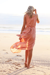 Dust Temple Wrap Midi Dress