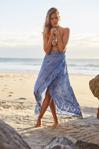 Dust Temple Wrap Maxi Dress