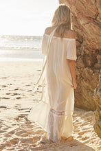Load image into Gallery viewer, White Temple Off the Shoulder Maxi