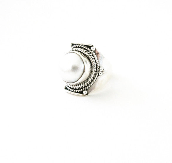 Mother Mermaid Silver Aztec Cuff Ring