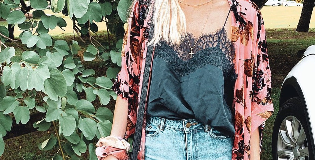 Gypsy Lace Black Cami