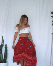 Load image into Gallery viewer, Red Festoon Frill Skirt