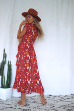 Load image into Gallery viewer, Red Festoon Cleobella Dress