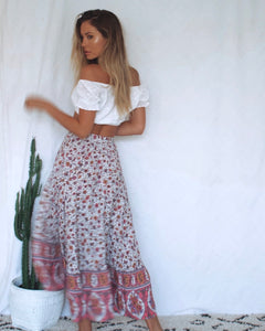 Lilac Fields Frill Skirt