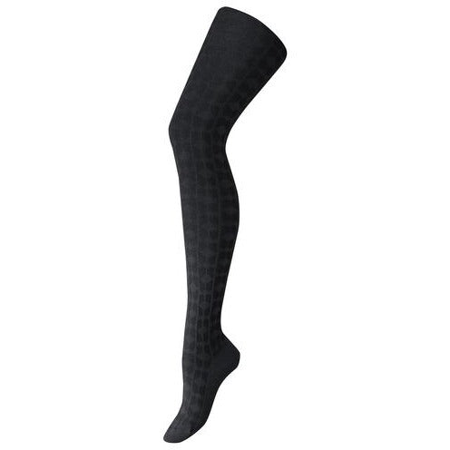 Women's textured organic cotton full length tights