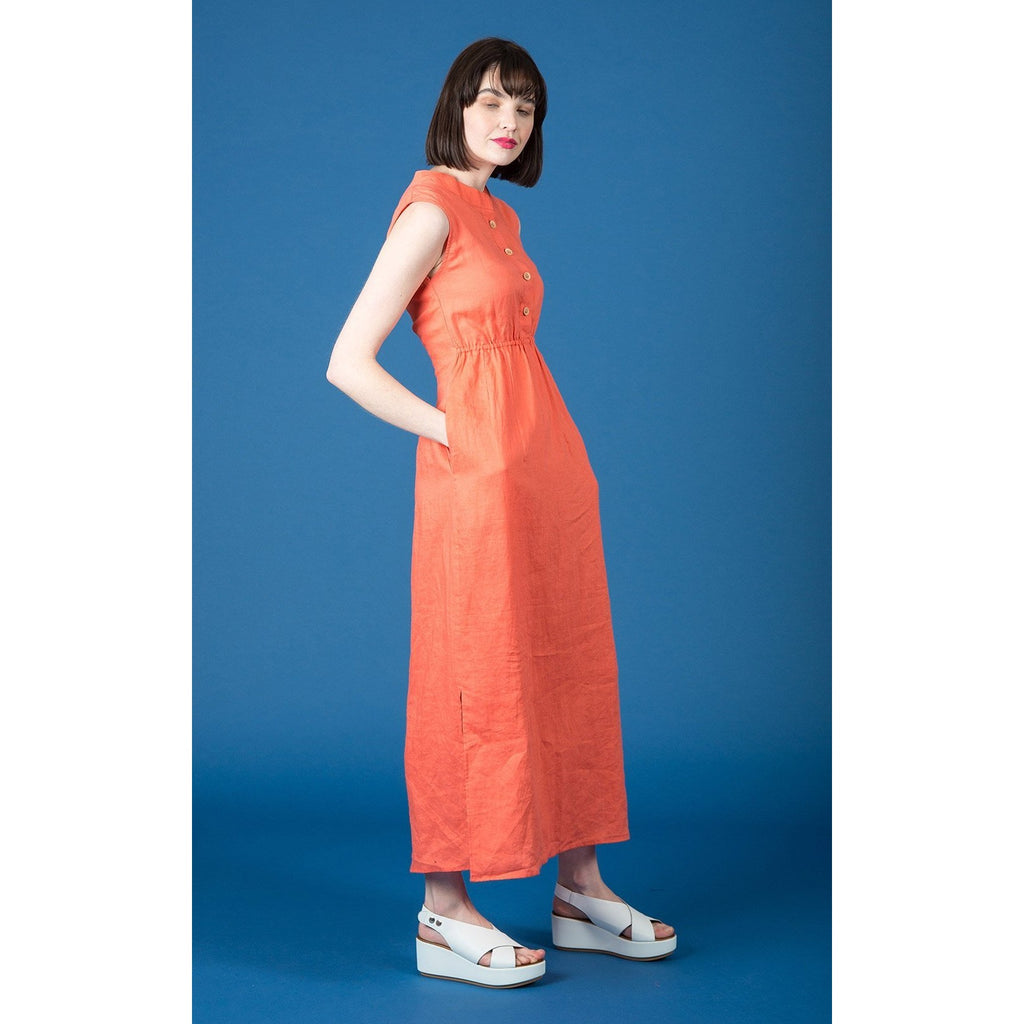 Ethically made linen maxi dress by Kindling Clothing