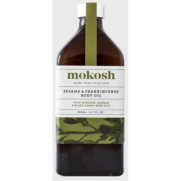 Certified organic body oil, hand made in Australia with fair trade ingredients by Mokosh skincare