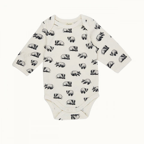 Organic cotton baby bodysuit with long sleeves by Nature Baby