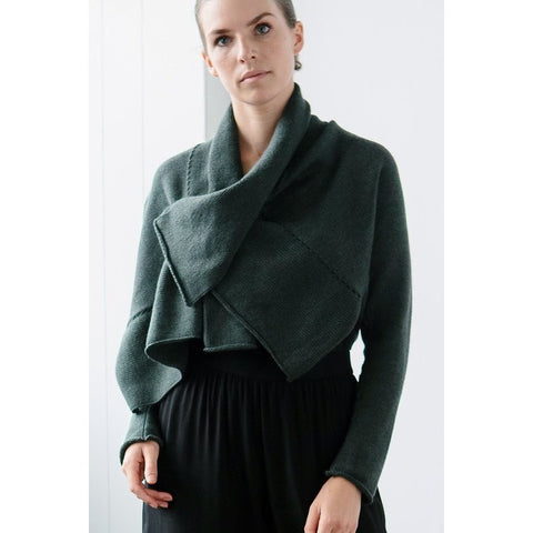 Australian made merino wool cardigan by Wendy Voon