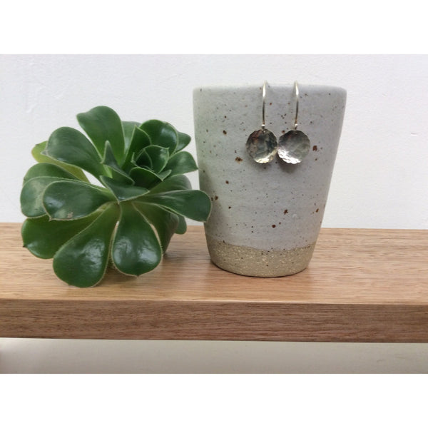 Recycled stirling silver earrings, handmade in Tasmania