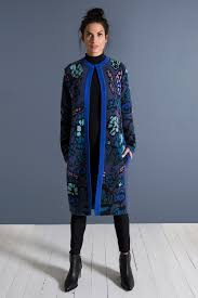Jacquard Swing Coat