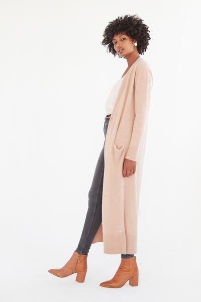 Cashmere Essentials Long Line Cardi