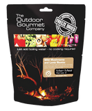 Outdoor Gourmet Wild Mushroom and Lamb Risotto