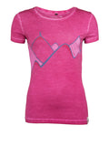 Chillaz T-Shirt Gandia Mountain Art Berry Washed