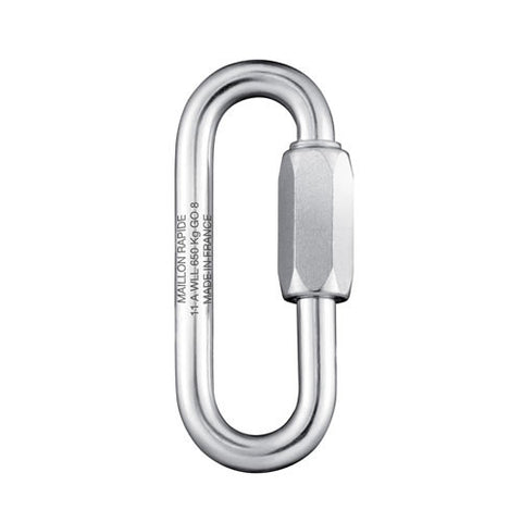 Maillon Rapide 6mm Oval (Wide Opening) Plated Steel