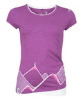 Chillaz  T-Shirt Fancy Mountain Art Violet