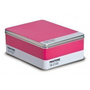 Pantone Tin Storage Box Honeysuckle Pink 18-2120