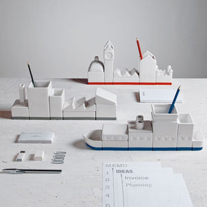 Seletti Desktructure - The Warehouse - White Desk Organiser