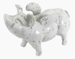 Large Ceramic Flying Pig, 32cm