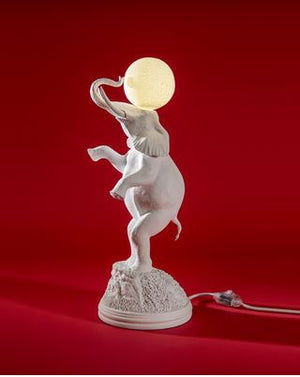 Elephant Lamp White