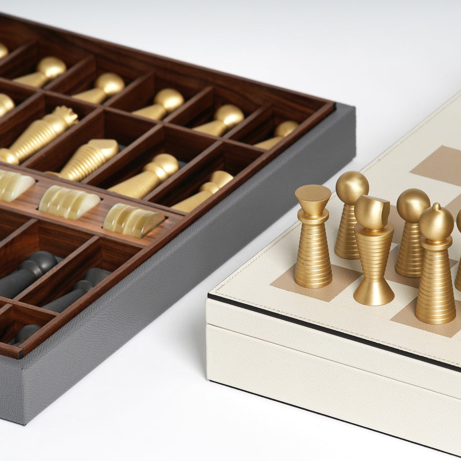 Pinetti Leather Chessboard