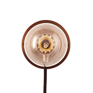 Frama E27 Wall Light Industrial Style Lamp Black Cable Bronze Base